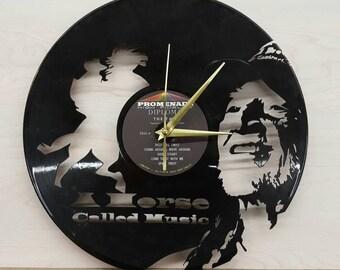 Willie Nelson Vinyl Record Clock