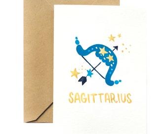 Birthday Greeting Card | Sagittarius Horoscope