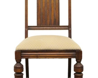 Antique 1920's Gothic Revival Jacobean Dining Side Chair