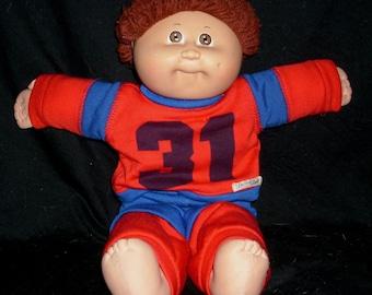 1980 Vintage cabbage doll original brown hair boy no.31 Hard to find!