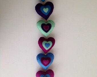 Hearts - Wall Hanging