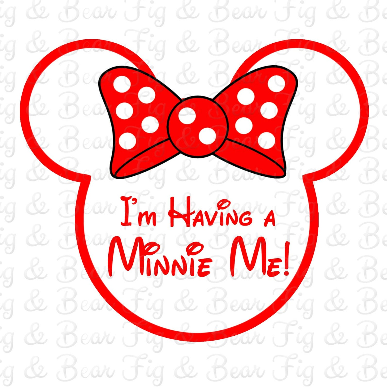 Disney Maternity Minnie Mouse I M Having A Minnie Me Iron