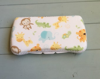 Jungle Babies, Wipe Case, Wipes Case, Baby Wipe Case, Travel Wipe Case, Baby Wipes Case, Travel Wipes Case, Wipes Holder, Baby Gift