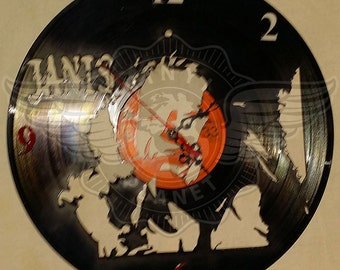 Vinyl Wall Clock JANIS JOPLIN