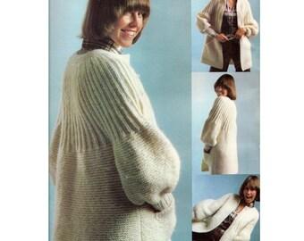 Beautiful Knit Sweater Pattern - PDF Download Pattern - Women's Knit Sweater, Vintage 1970's