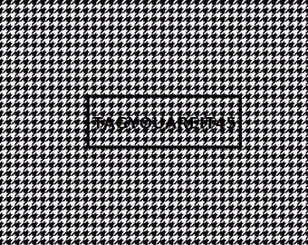 Black Houndstooth on White Cardstock Paper