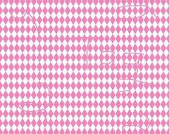 New Pricing and Packaging Pink Rhombus Pattern on White Cardstock Paper
