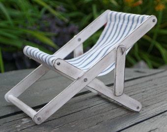 Handmade Deck Chair Miniature 1:6 Pullip Blythe Momoko Barbie BJD Lati