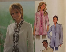 OOP 4075 Butterick (2003) misses' tunic. Petite-able. Size 8-10-12.  Complete, unused, FF. Excellent condition.