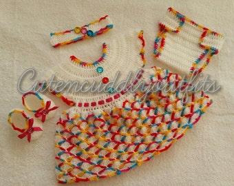 Newborn Baby Dresses - Infant Baby Dresses - Crochet Baby Dress Set - Newborn Outfit - Crochet Newborn Outfit - Crochet Baby Outfit
