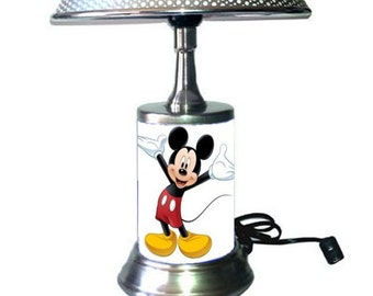 Mickey Mouse Lamp with chrome shade