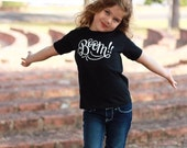 BOOM! - Children's Black & White Graphic Tee Shirt - Size 2 2t - Short Sleeved - Hand lettered for DearSeed Kid T-shirt - Dear Seed