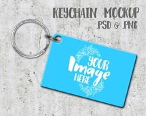 Dogtag Keychain Mockup Template | Photoshop Mockup | Key Ring Template | Stock Photography