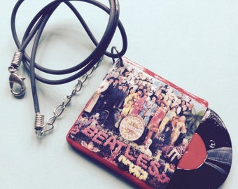 The Beatles Sgt. Pepper Record Album Necklace