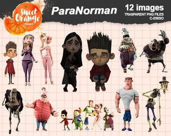 BIG SALE ParaNorman Laika Studios C-036SC Instant Donwnload, PNG background files