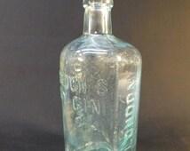30% Off Sale - Vintage Antique Embossed Gordon's Dry Gin Bottle London England, Bottom Boar's Head Design