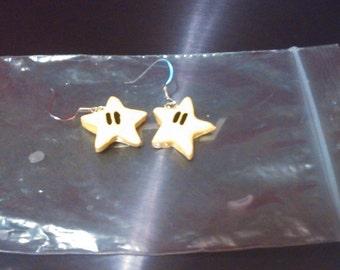 Mario Star Charm Earrings