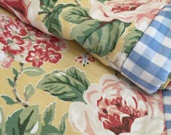 A Laura Ashley Fabric Door/single Curtain