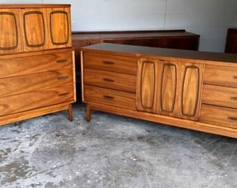 Mid Century Modern Dresser with Highboy