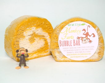 Monkey Farts Bubble Bar - Banana Fruity Solid Bubble Bath