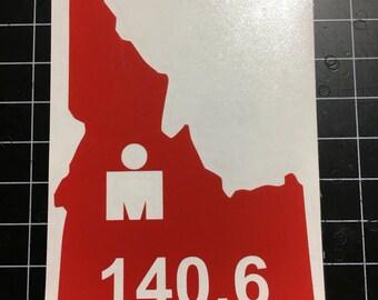Ironman IDAHO Decal 70.3 and 140.6 Triathlon Ironman M dot sticker
