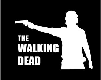 Zombie Walking Dead decal Car decal auto decal window decal Dead zombie walker decal