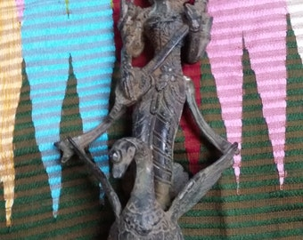 Goddess Saraswati Brass Bronze Statue
