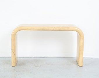 Goatskin Console Table
