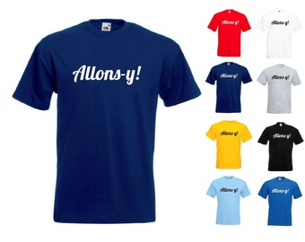 Doctor Who Dr Who Allons-y! - Mens/Adults Tshirt - Novelty/Funny/Gift/Present/Secret Santa