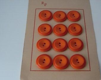 Vintage buttons. set of twelve vintage plastic buttons. Retro buttons
