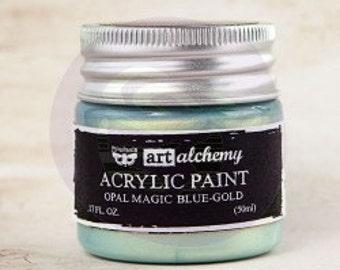 Art Alchemy: Acrylic Paint-Opal Magic Blue-Gold 1.7oz