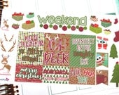 Christmas Quotes and Decorative Sticker Kit for your Erin Condren Life Planner