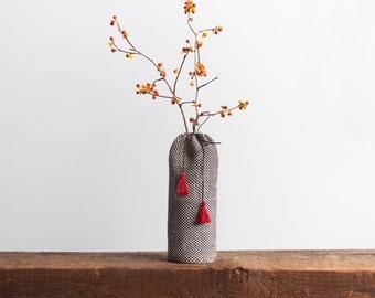 Hemp woven flower vase