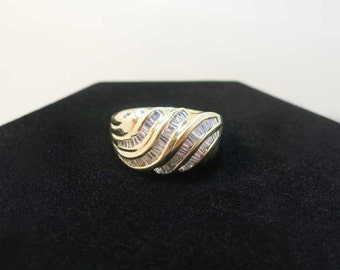 diamond baguette wedding band 1 carat 14k yellow gold