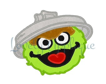 Oscar The Grouch Applique Design - Instant Download