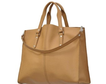 Middle-size leather handbag