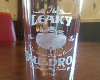 Harry Potter inspired 'Leaky Cauldron' pint glass