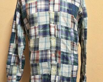Vintage Polo Ralph Lauren Patchwork Shirt Medium Size