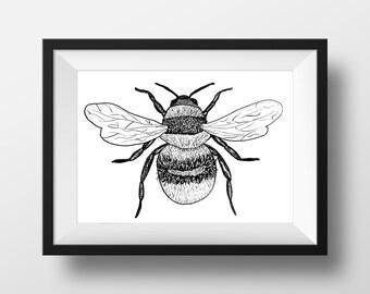 Bee print A5