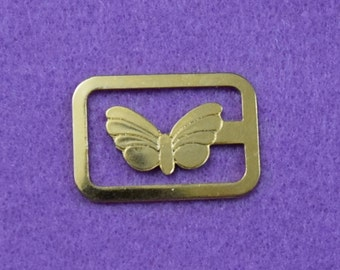 Vintage Gold Tone Butterfly Bookmarker - Made in Italy
