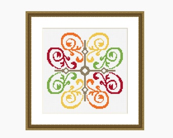 Cross Stitch Pattern, modern cross stitch - CITRUS FRESH pattern