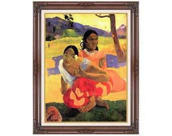 When Will You Marry? Nafea faa ipoipo Paul Gauguin Framed Art Canvas Wall Artwork Print Sizes Small to Large - M00105