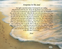 Footprints In The Sand Paper Wall Print Free Shipping