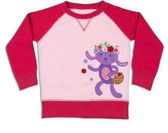 Hoppy Bunny baby raglan sweatshirt