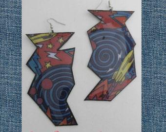 Handmade Accessories, Handmade Earrings, Jewelery, Funky Earrings, Edgy Earrings, Unique Earrings, Colorful Earrings, Statement Earrings