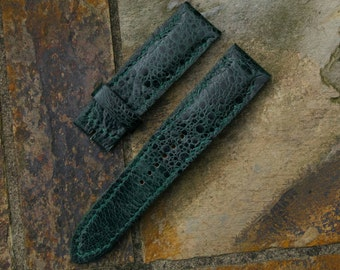 Dark Emerald Green Toad Watch strap