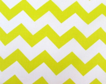 "Chevron, 1"" Yellow Fabric By the Yard"