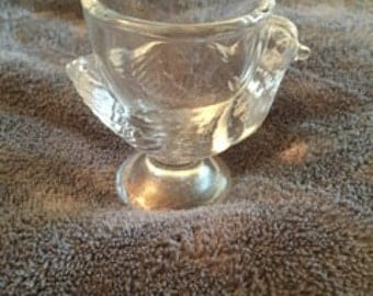 Clear Glass Chick Egg Cup