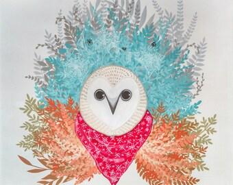 Owl with Handkerchief