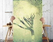 Magical Tree Design Art Print - Green Wall Art - Tree Art, Digital Download | Bohemian Wall Decor | Eclectic  Wall Decor